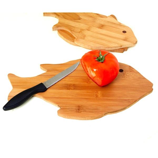 Fish Shape Bamboo Cutting Board