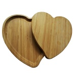 heart shaped bamboo plate