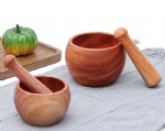 wooden mortar and pestle set